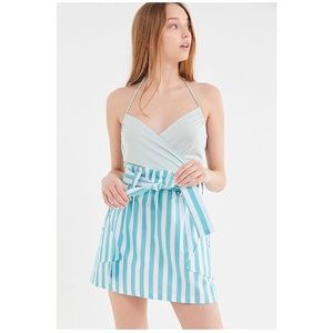 UO Tiffany Belted Paperbag Mini Skirt